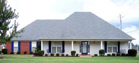 House Plan 47217 | Style Plan with 2013 Sq Ft, 3 Bedrooms, 2 Bathrooms, 2 Car Garage Elevation