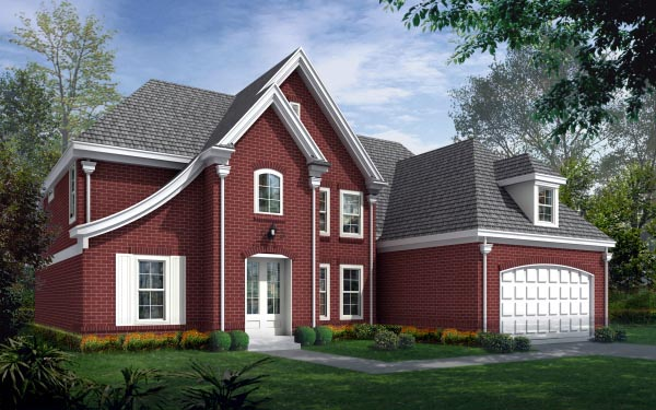 House Plan 47225 with 3 Beds, 3 Baths, 2 Car Garage Elevation