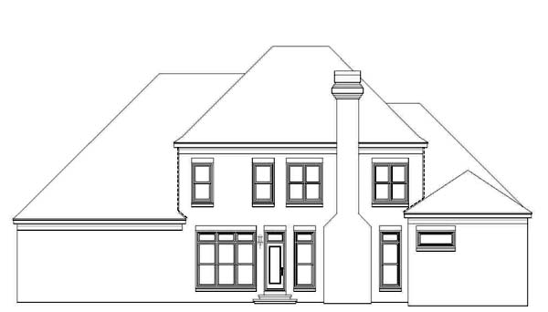 House Plan 47229 Rear Elevation