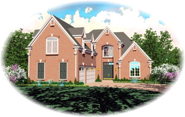 House Plan 47233 with 3 Beds, 4 Baths, 3 Car Garage Elevation