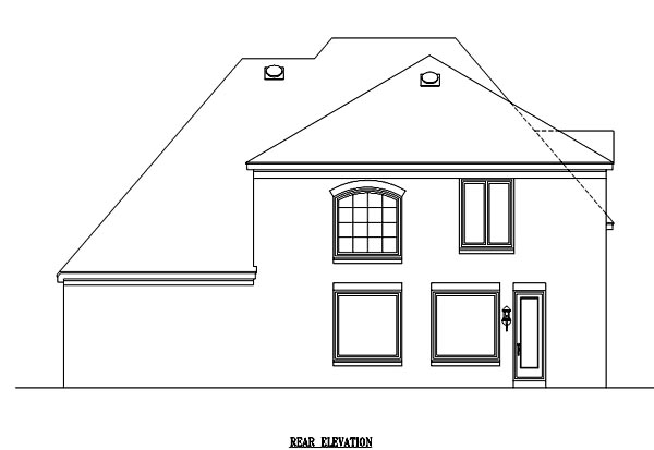 House Plan 47233 Rear Elevation