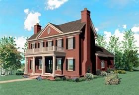Plantation Southern House Plan 47234 Elevation