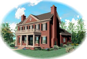 House Plan 47235 Elevation