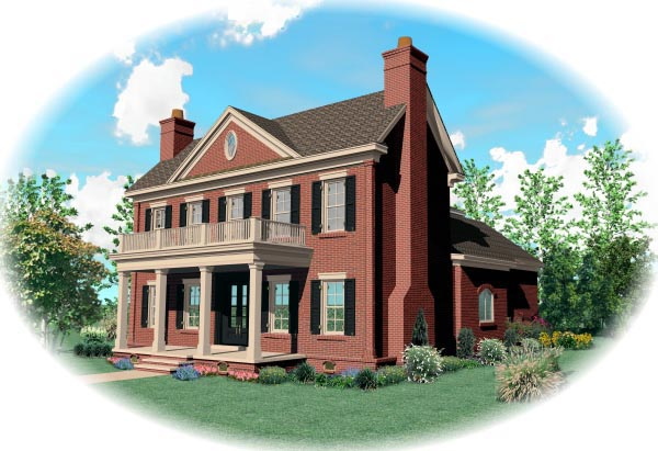 House Plan 47235 Elevation