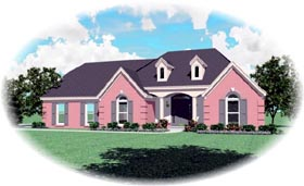 House Plan 47243 Elevation