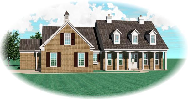 House Plan 47244 Elevation
