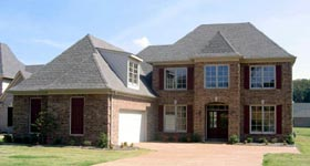 House Plan 47250 with 4 Beds, 4 Baths, 2 Car Garage Elevation