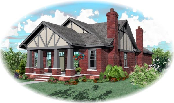House Plan 47259 Elevation