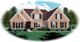 House Plan 47272 | Style Plan with 3616 Sq Ft, 4 Bedrooms, 4 Bathrooms, 3 Car Garage Elevation