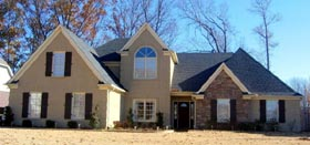 House Plan 47280   Style Plan with 3218 Sq Ft, 4 Bedrooms, 3 Bathrooms, 3 Car Garage Elevation