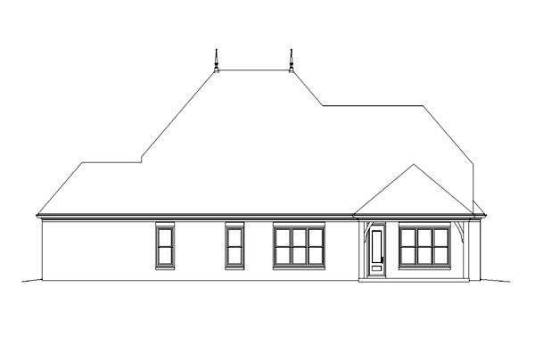 House Plan 47283 Rear Elevation