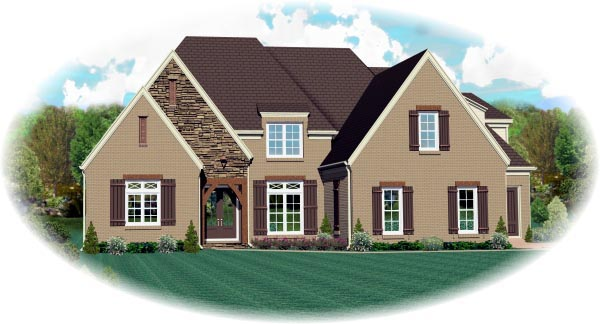 House Plan 47288 Elevation