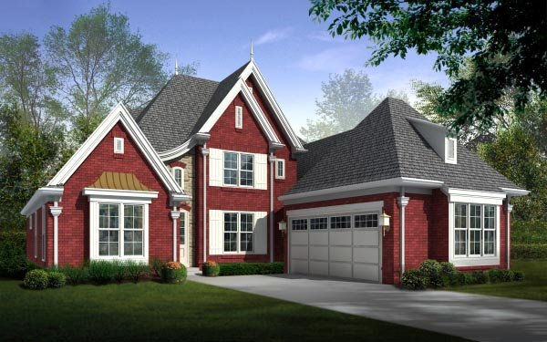 House Plan 47290 Elevation