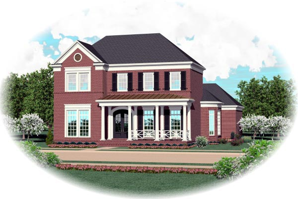 House Plan 47298 Elevation