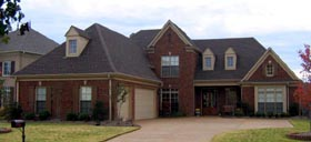 House Plan 47313 with 4 Beds, 4 Baths, 3 Car Garage Elevation
