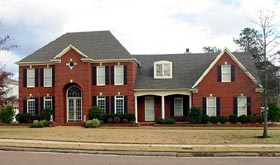 House Plan 47322 with 5 Beds, 4 Baths, 3 Car Garage Elevation