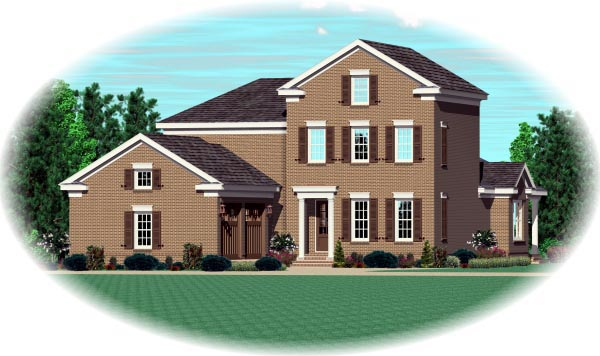 House Plan 47323 Elevation