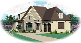 House Plan 47324 Elevation