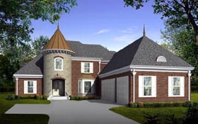 House Plan 47326 | Style Plan with 4000 Sq Ft, 4 Bedrooms, 4 Bathrooms, 3 Car Garage Elevation