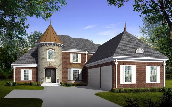 House Plan 47326 with 4 Beds, 4 Baths, 3 Car Garage Elevation