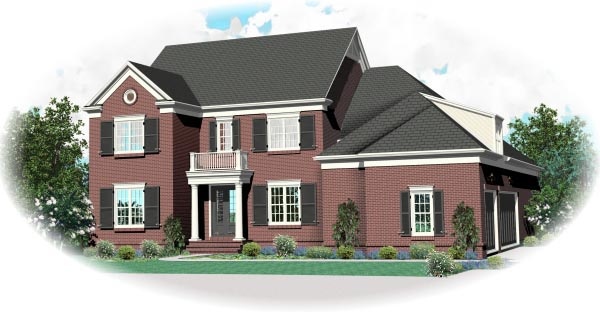 House Plan 47327 Elevation