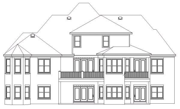 House Plan 47333 Rear Elevation