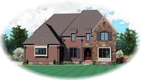 House Plan 47334 with 5 Beds, 4 Baths, 3 Car Garage Elevation