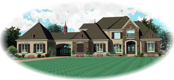 House Plan 47336 Elevation