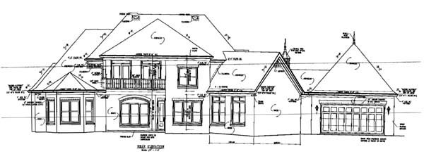 House Plan 47336 Rear Elevation