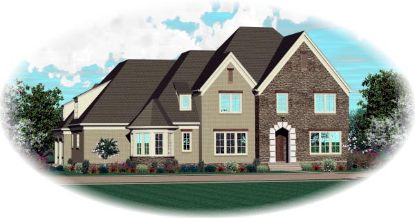 House Plan 47343 Elevation