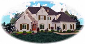 House Plan 47344 Elevation