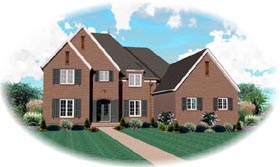 House Plan 47345 with 5 Beds, 4 Baths, 3 Car Garage Elevation