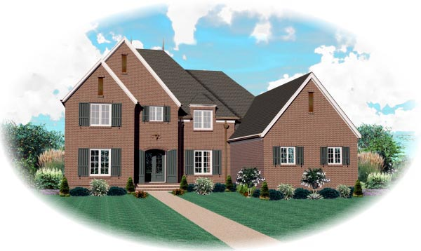 House Plan 47345 Elevation