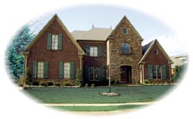 House Plan 47348 with 5 Beds, 4 Baths, 3 Car Garage Elevation