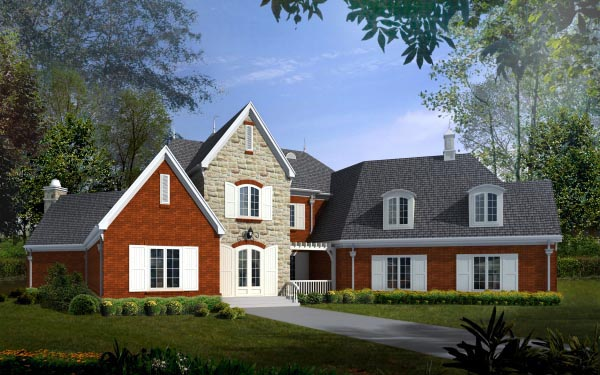 House Plan 47352 with 4 Beds, 4 Baths, 3 Car Garage Elevation