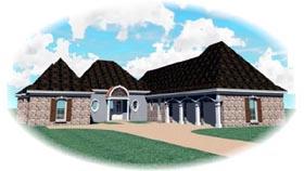House Plan 47354 Elevation