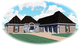 House Plan 47355 with 4 Beds, 4 Baths, 2 Car Garage Elevation