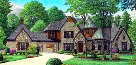 House Plan 47359 with 4 Beds, 4 Baths, 4 Car Garage Elevation