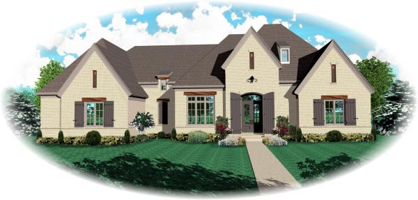 House Plan 47362 with 5 Beds, 4 Baths, 3 Car Garage Elevation