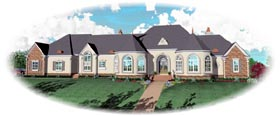 House Plan 47367 with 4 Beds, 4 Baths, 4 Car Garage Elevation