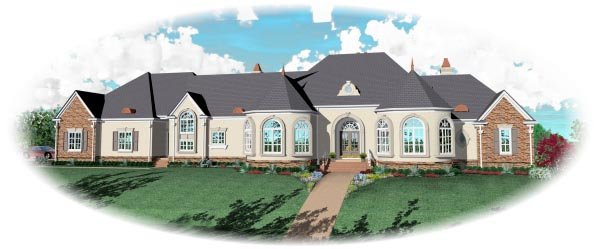 House Plan 47367 Elevation