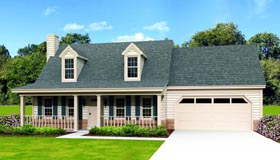 Country House Plan 47370 with 3 Beds, 3 Baths Elevation