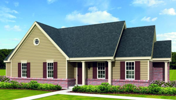 Traditional House Plan 47376 with 3 Beds, 2 Baths Elevation
