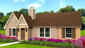 House Plan 47378 | Traditional Style Plan with 1199 Sq Ft, 3 Bedrooms, 2 Bathrooms Elevation