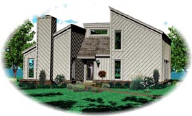 House Plan 47379 | Traditional Style Plan with 1200 Sq Ft, 2 Bedrooms, 1 Bathrooms Elevation