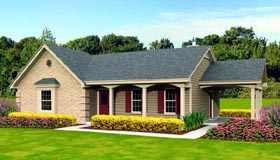House Plan 47380 Elevation