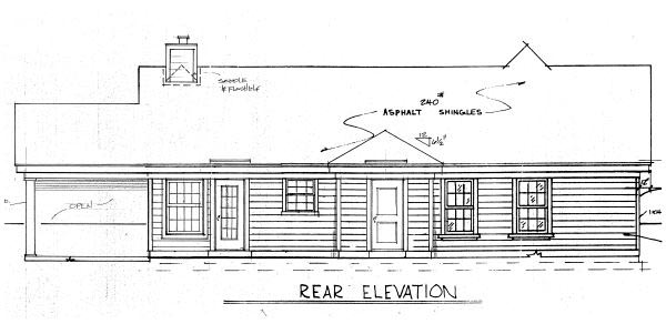 House Plan 47380 Rear Elevation
