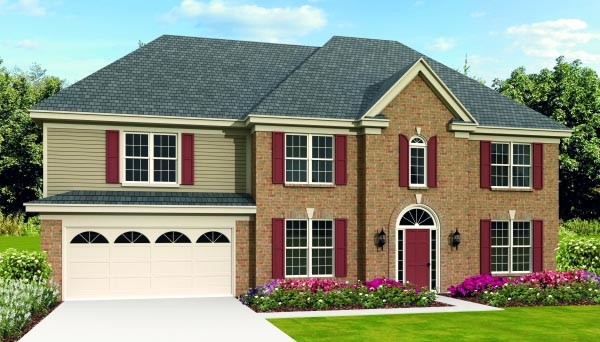 House Plan 47385 Elevation