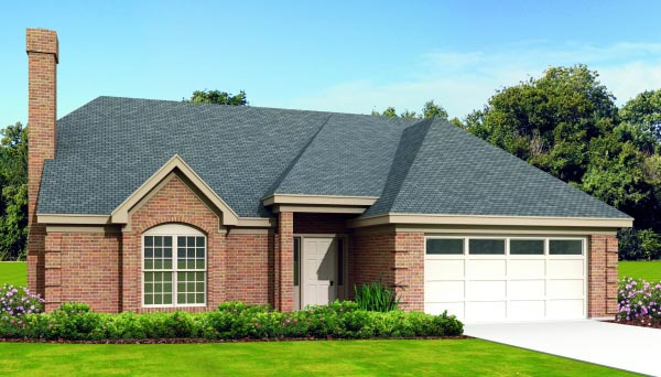 Country House Plan 47387 with 3 Beds, 3 Baths, 2 Car Garage Elevation