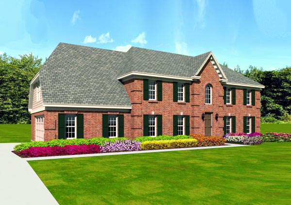 Traditional House Plan 47389 Elevation